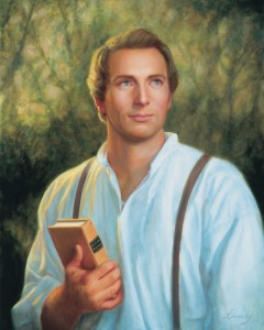 Joseph Smith Lindsley holding book