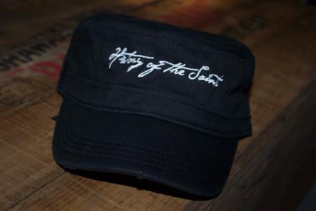 Black Logo Military Style Hat
