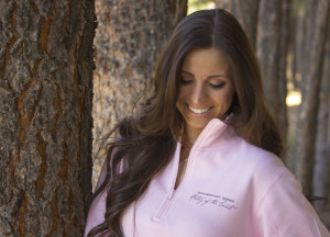 Pink Quarter Zip Sweater