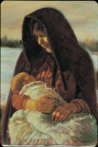 pioneer woman and baby