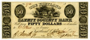 25 Kirtland Bank Note