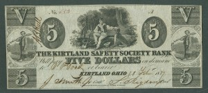OH, Kirtland Safety Society, 1837 $5, J. Smith, 653(1000)